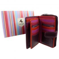 Ladies Purse Wallet RIO collection by Visconti Leather Plum Fuschia
