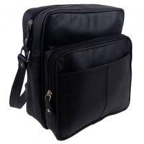 Prime Hide Ranger Black Leather Cross Body Man Bag