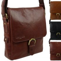 Classic Leather Messenger Cross Body Bag by Woodbridge London Gift Handy