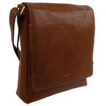 Rowallan of Scotland Mens Tan Buffalo Leather Messenger Bag