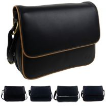 GiGi Leather Ladies 3 Section Flap Over Cross Body/Shoulder Bag