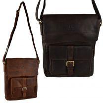 Mens Ladies Buffalo Leather North/South Messenger BAG by Rowallan of Scotland; El Paso Collection