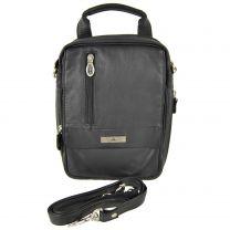 Mens Soft Cowhide Leather Cross Body/Travel Organiser Bag by Rowallan of Scotland