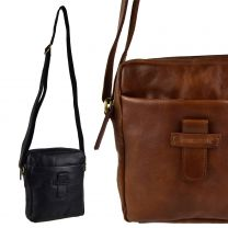 Unisex Cowhide Leather Cross Body Messenger Bag by Rowallan of Scotland; Explorer Collection
