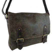 Mens Ladies Large Distressed Leather Messenger Bag by Rowallan Brushwood