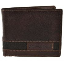 Mens Bi-Fold BUFFALO LEATHER WALLET Rowallan of Scotland; Panama Collection Gift Box Rugged Chunky