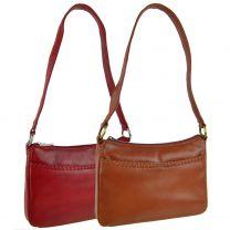 Ladies Small Leather Handbag Shoulder Bag by Sirco Leatherwares Classic Handy