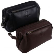 Mens Stylish Classic Top Quality Leather Wash Bag by Underwood & Tanner Of London