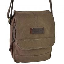 Small Canvas & Leather North South/Cross Body BAG by Troop London Travel
