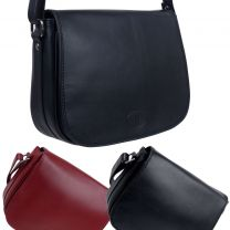 Rowallan of Scotland Leather Ladies Rounded/Shoulder Bag - Iceland Collection