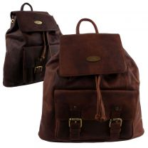 Rowallan Cowhide Leather Mens Backpack/Rucksack Saxon Range