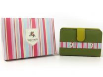 Quality Ladies Soft Leather Purse Wallet by Visconti Gift Boxed (Lime Green)