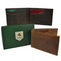 Oil Leather Travel Wallet Passport Holder by Visconti Hunter RFID Gift Boxed