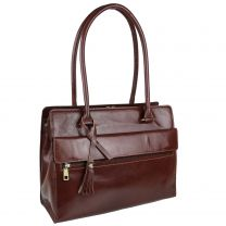 Ladies Italian Vintage Brown Leather Shoulder/Work Bag Handbag by Visconti Tote