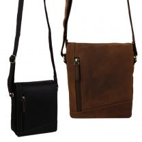 Ladies Mens Oiled Leather Cross Body/Shoulder Bag by Visconti; Merlin Travel