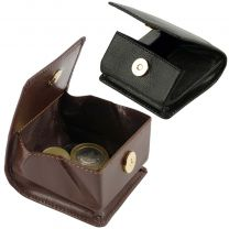 Mens Ladies Quality Leather Coin Purse from Visconti Black or Brown