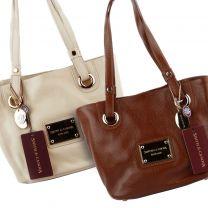 Ladies Leather Handbag Grab Bag by Smith & Canova Classic Bucket Style