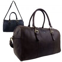 Hansson Leather Mens Large Classic Holdall Travel Overnight Bag
