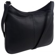 Ladies Soft Black Leather Cross Body Handbag by GiGi Marc Chantel Collection
