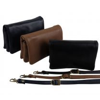 GiGi Leather Ladies Mini Clutch Cross-Body Bag