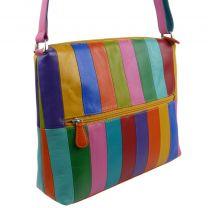 Ladies Leather Colourful Shoulder Bag by Ili New York Rainbow