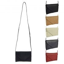 Ladies Small Soft Classic Leather Envelope Clutch Handbag by GiGi Versitile