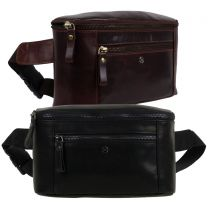 PrimeHide Leather Mens Structured Bumbag Waist Pack