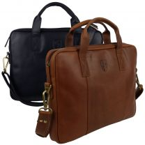 Underwood & Tanner Leather Laptop Briefcase Office Bag