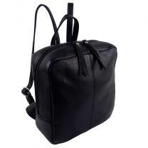 GiGi Leather Ladies Mini Black Backpack Marc Chantal Collection