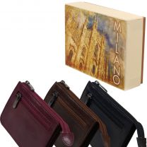 Mens Ladies Top Quality Leather Coin Purse Golunski Milano Collection Gift Boxed