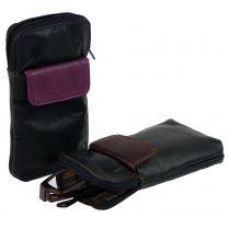 Soft Leather Zipped Glasses Spectacles Case Holder by Golunski Handy Pocket